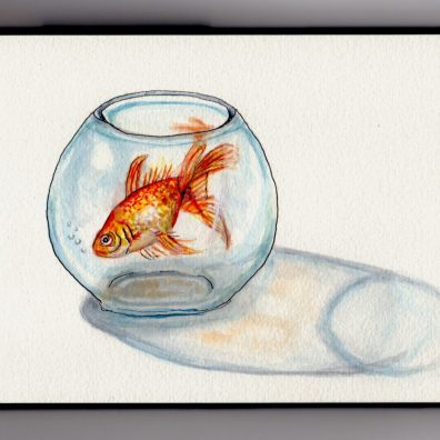 Goldfish In A Bowl - Doodlewash