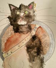 Doodlewash by Sara Conley - I Painted Your Cat watercolor sketch pet portraits
