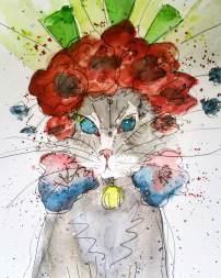 Doodlewash by Sara Conley - I Painted Your Cat watercolor sketch pet portraits