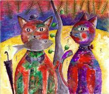 Mr & Mrs. Carlo - Doodlewash by Failasufa An - gouache watercolor painting