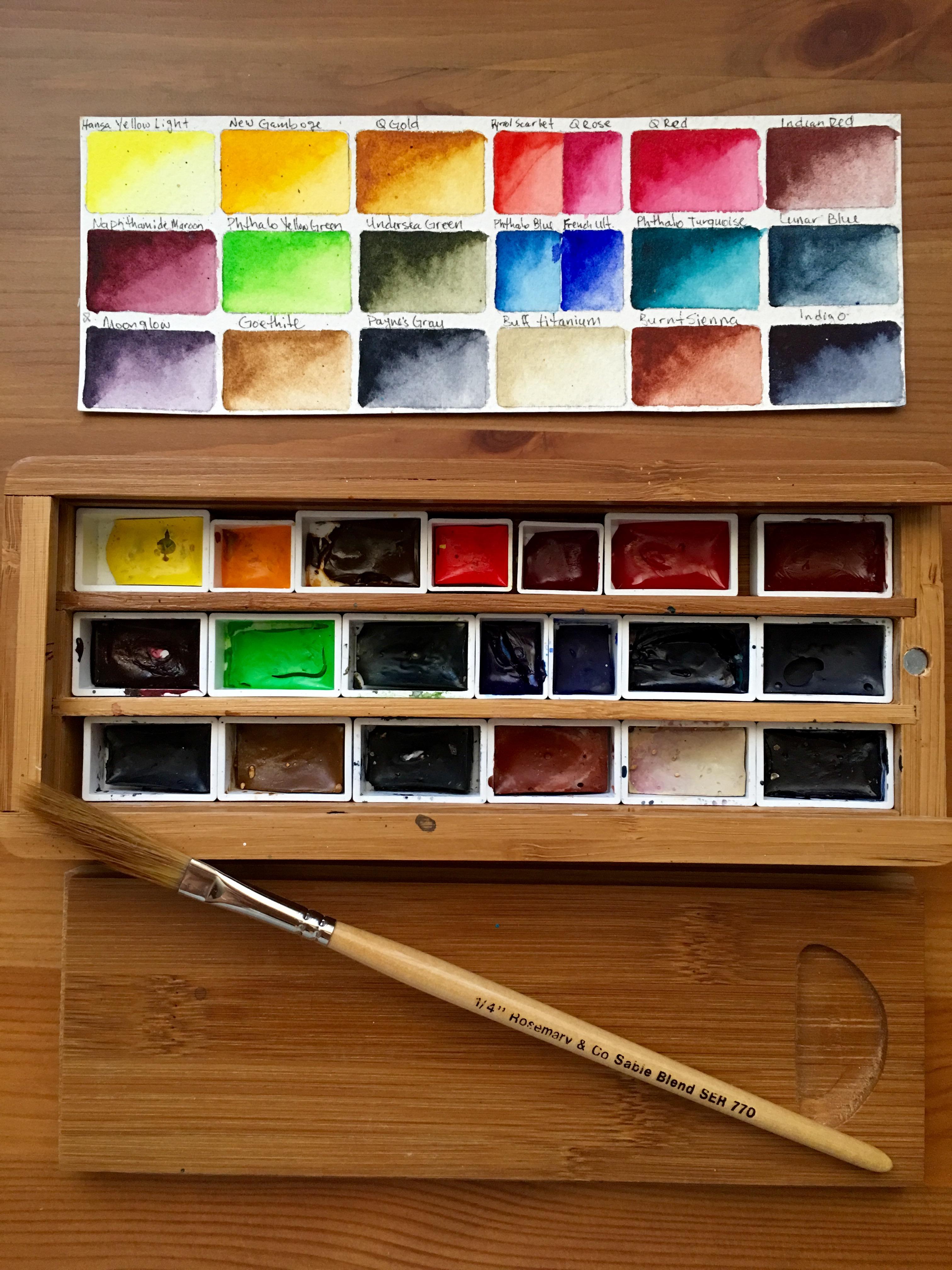 Doodlewash Review Daniel Smith Extra Fine Watercolors