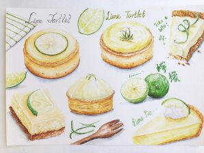 Doodlewash by YuLing Yiu food illustrations with key lime