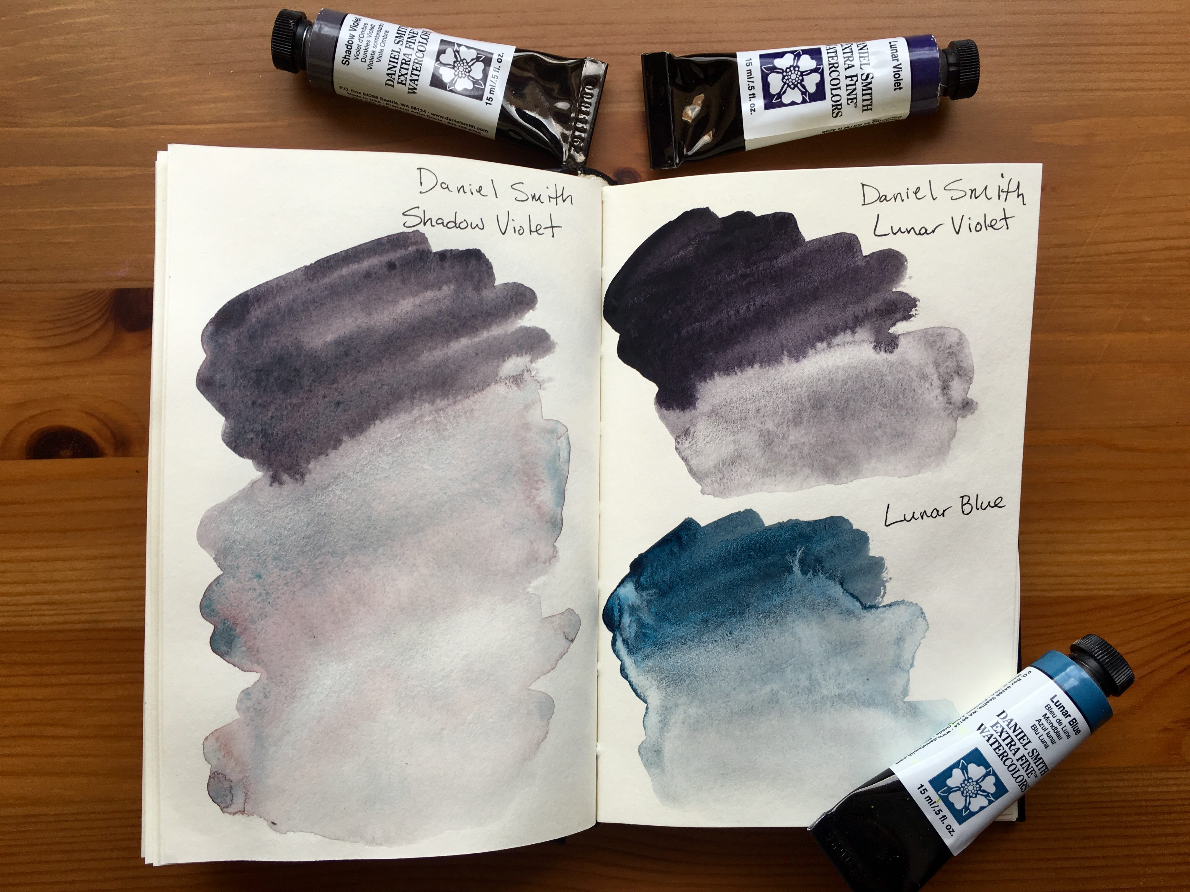 Doodlewash Review Daniel Smith Extra Fine Watercolors