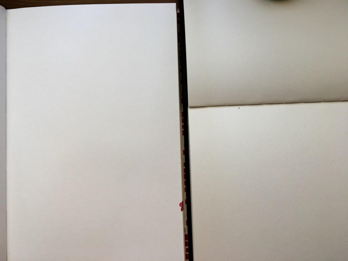 Fabriano Venezia and Fabriano Watercolour books, sketchbooks paper comparisons