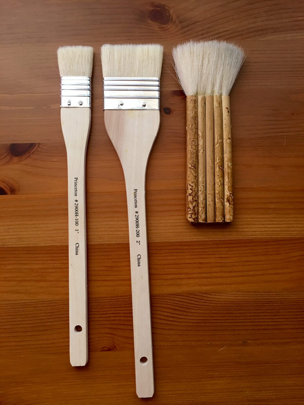 hake brushes, goat hair