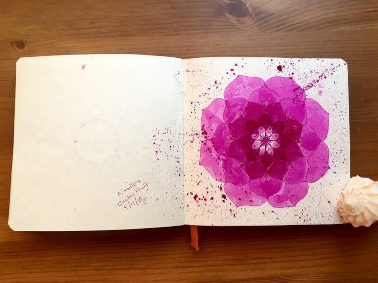 Global Art Materials Handbook Journal Travelogue series journals, sketchbooks, watercolors with noodlers ink mandala
