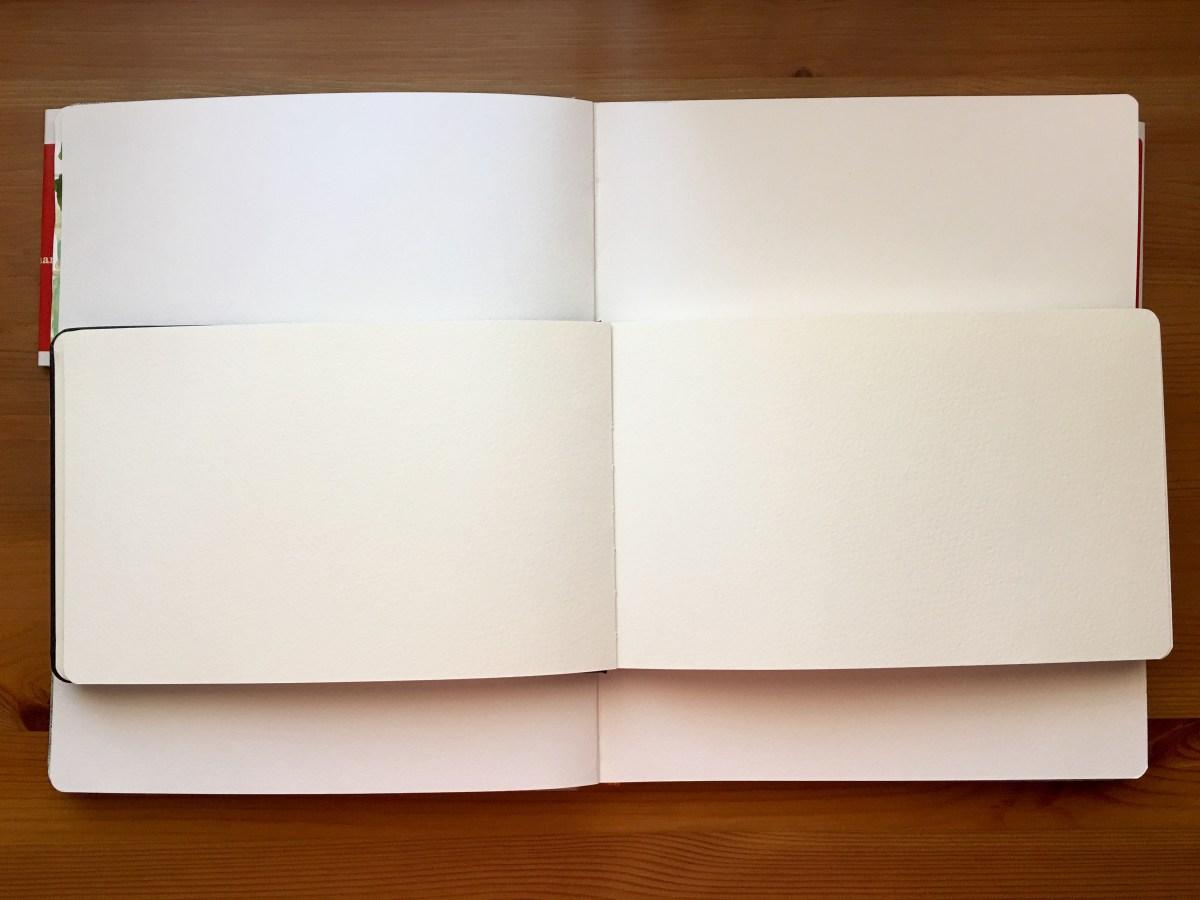 Moleskine watercolor journal and travelogue handbook journal paper comparisons