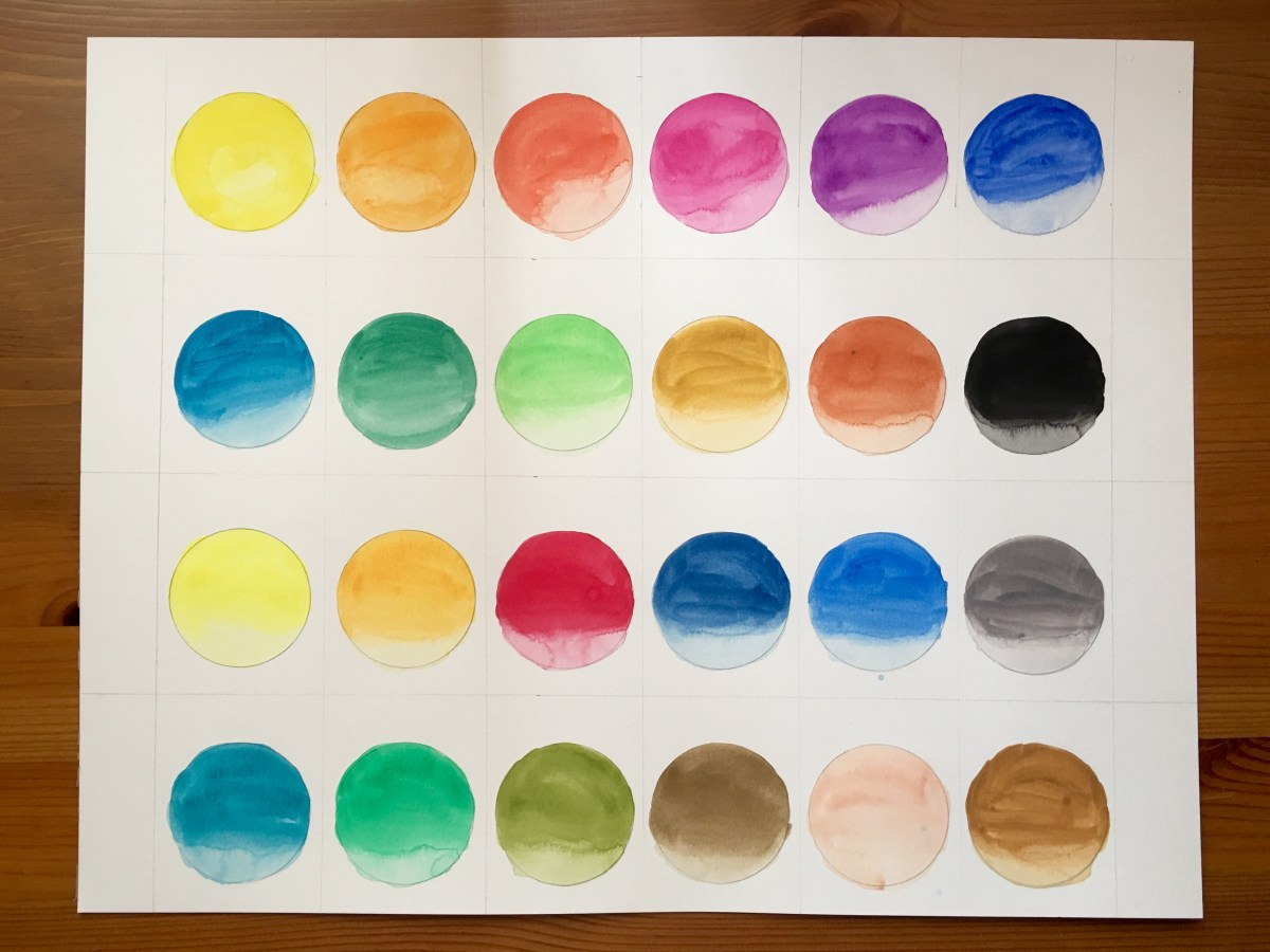 Pelikan watercolours swatch