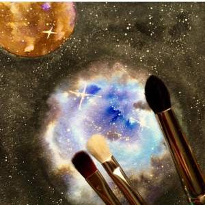 Princeton Series 3750 Select Brushes with nebula background