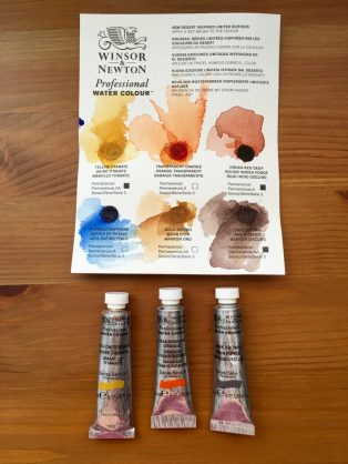 Winsor & Newton limited edition colors in desert