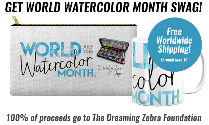 World Watercolor Month July 2016 Products