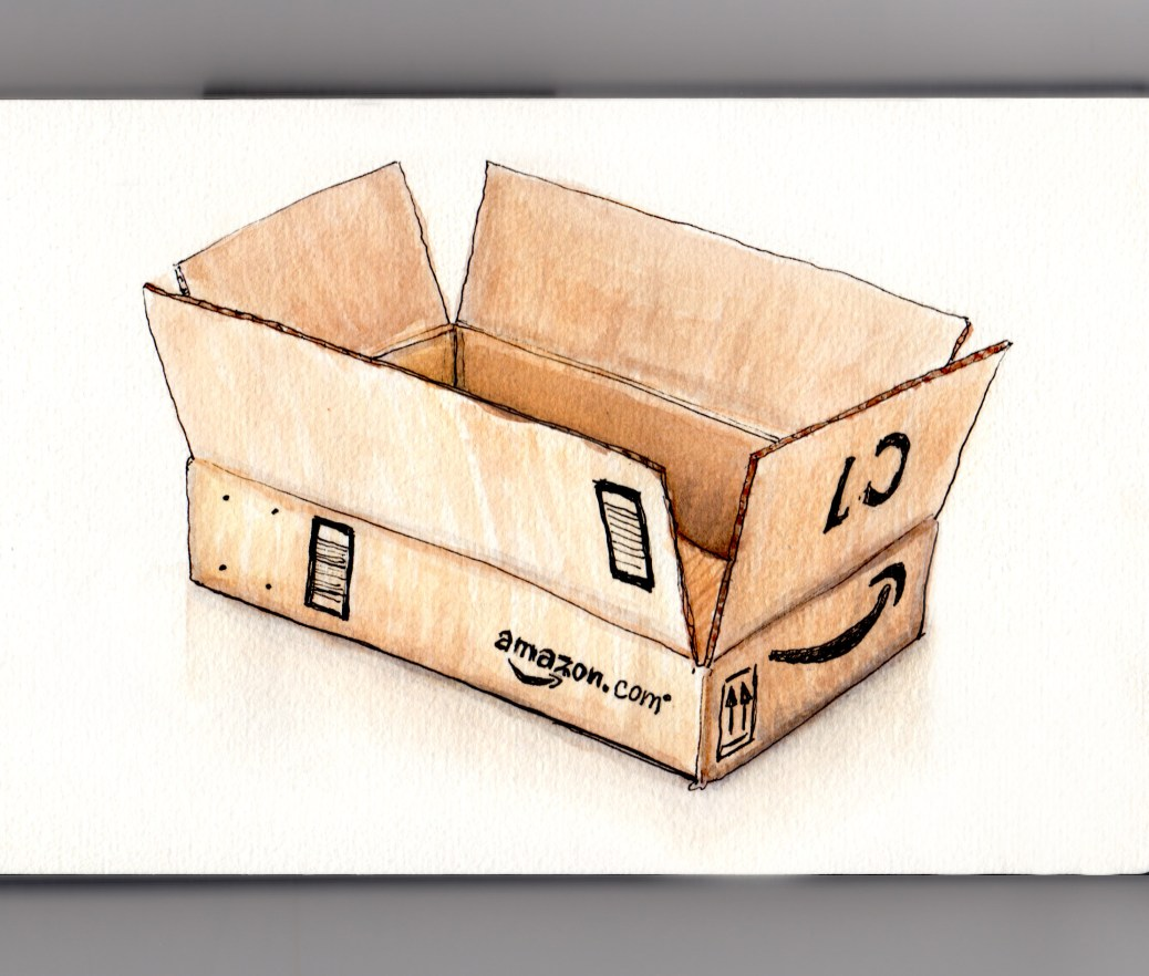 Doodlewash my favorite place to shop day 24 my favorite place to shop amazon empty box sciox Gallery