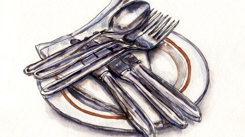 My Favorite Kitchen Utensil - #WorldWatercolorGroup Cutlery