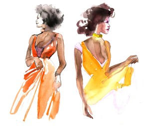 Doodlewash - Watercolor Illustration - Fashion - by James Skarbeck of women's fashion
