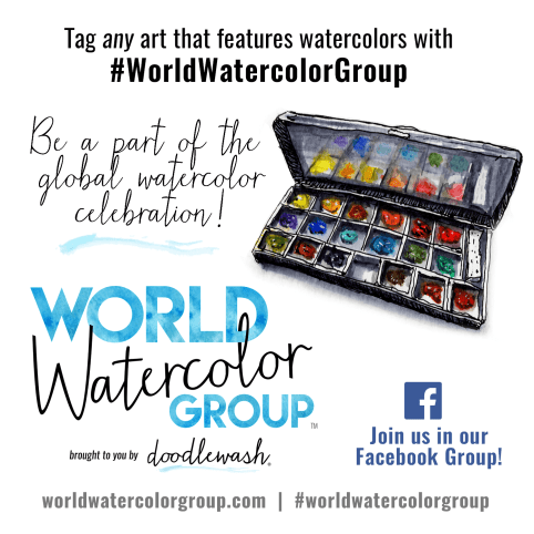World Watercolor Group by Doodlewash Promo Graphic