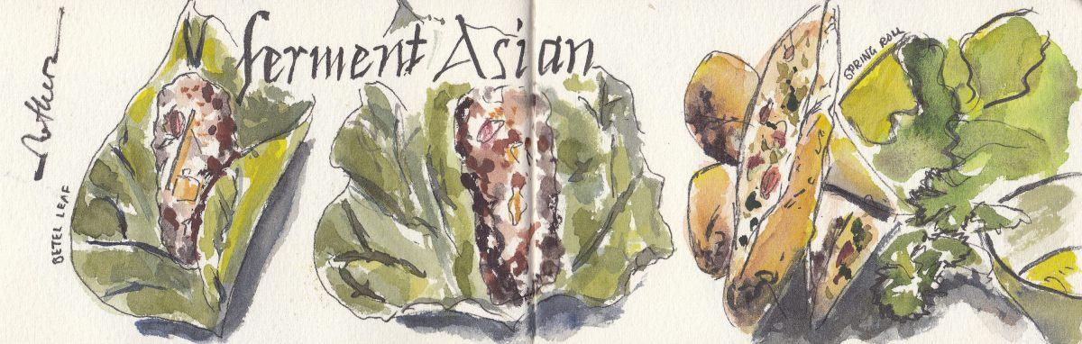#Doodlewash - Watercolor sketch by Leslie Chua - ferment Asian - #WorldWatercolorGroup