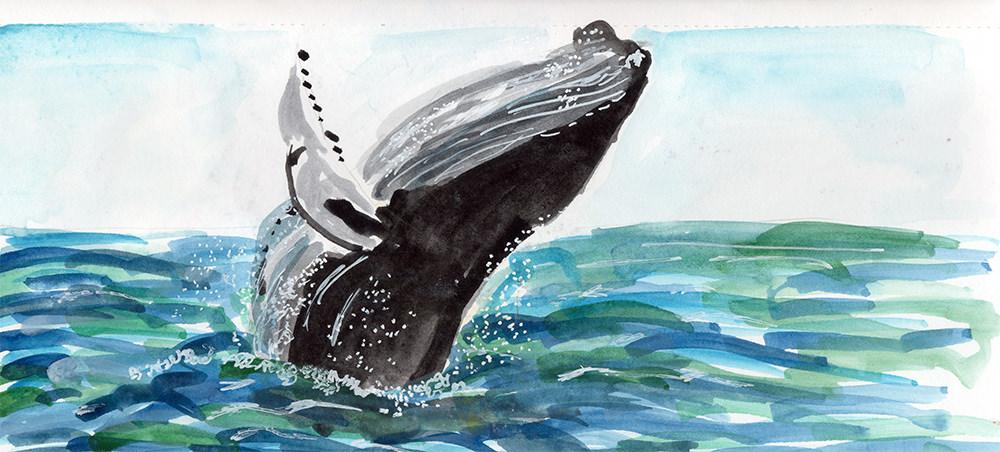 #Doodlewash - Watercolor by Anya Kopotilova - lake - #WorldWatercolorGroup