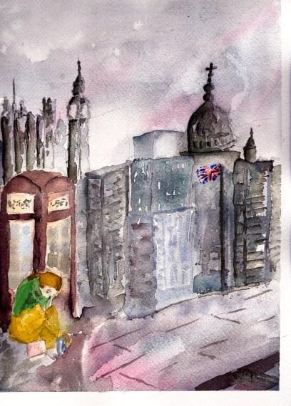 #WorldWatercolorGroup Watercolor painting by Daniel Trump of UK - #doodlewash