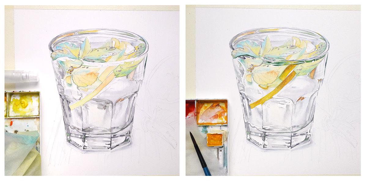 #WorldWatercolorGroup - Watercolor by Kateryna Savchenko process - #doodlewash