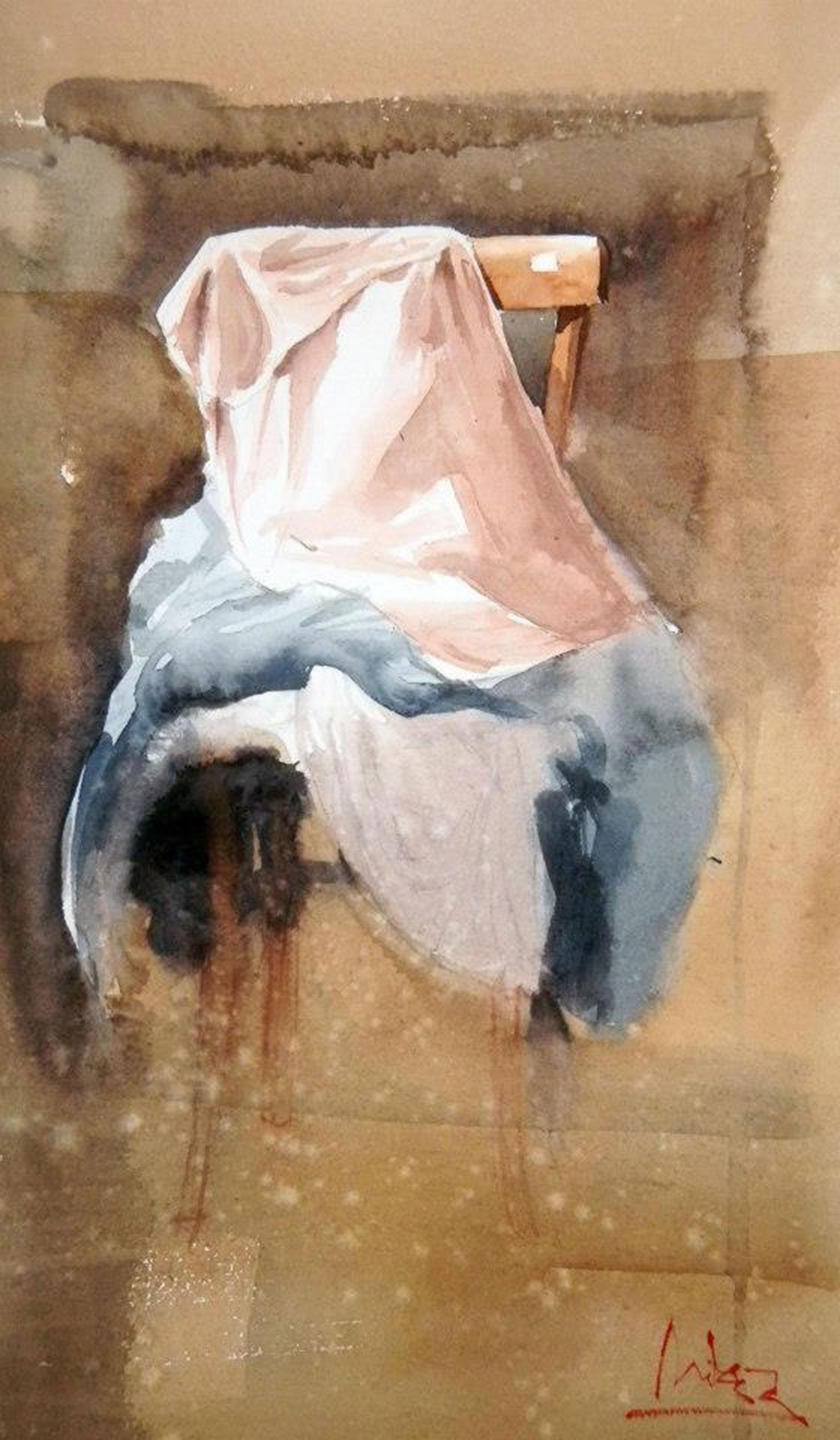 #WorldWatercolorGroup - watercolor by Dalibor Popovic Miksa of fabric - #doodlewash
