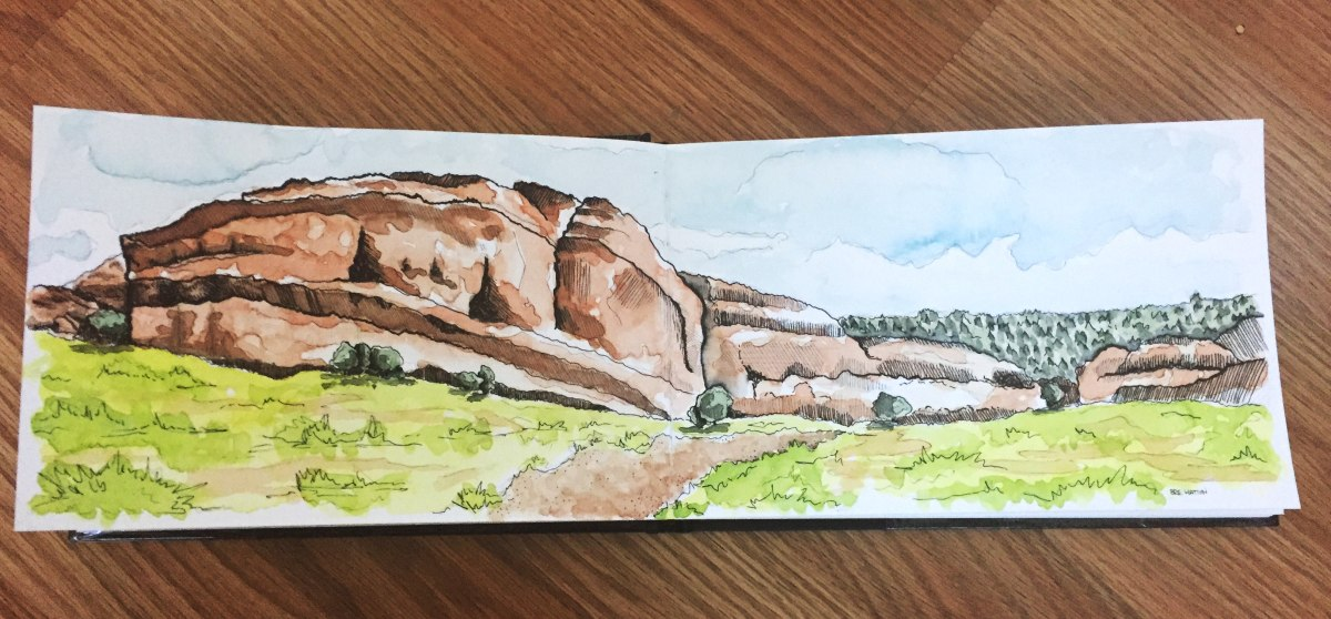 "#WorldWatercolorGroup - Watercolour by Gabrielle ""Brie"" Hatton - #doodlewash"
