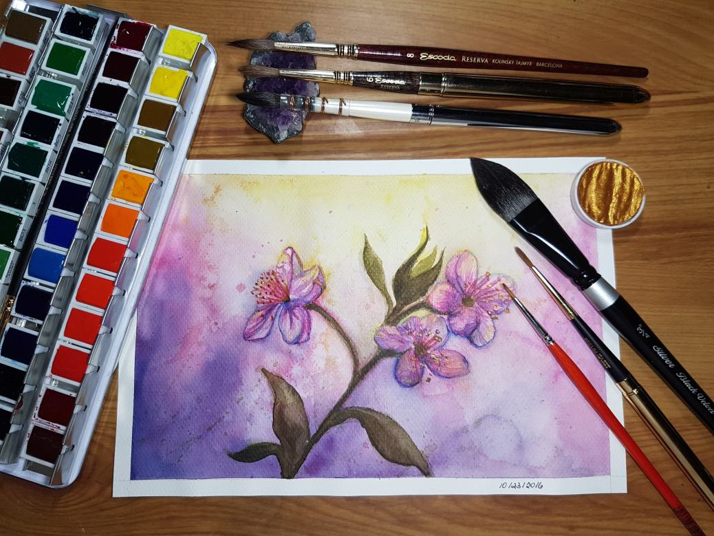 #WorldWatercolorGroup - Watercolor by Lynda Monteverde of flowers - #doodlewash