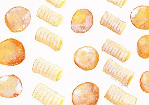 #WorldWatercolorGroup - Watercolor by Miriam Figueras of jar of biscuits - #doodlewash