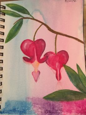 #WorldWatercolorGroup - Watercolor painting of flowers by Jackie