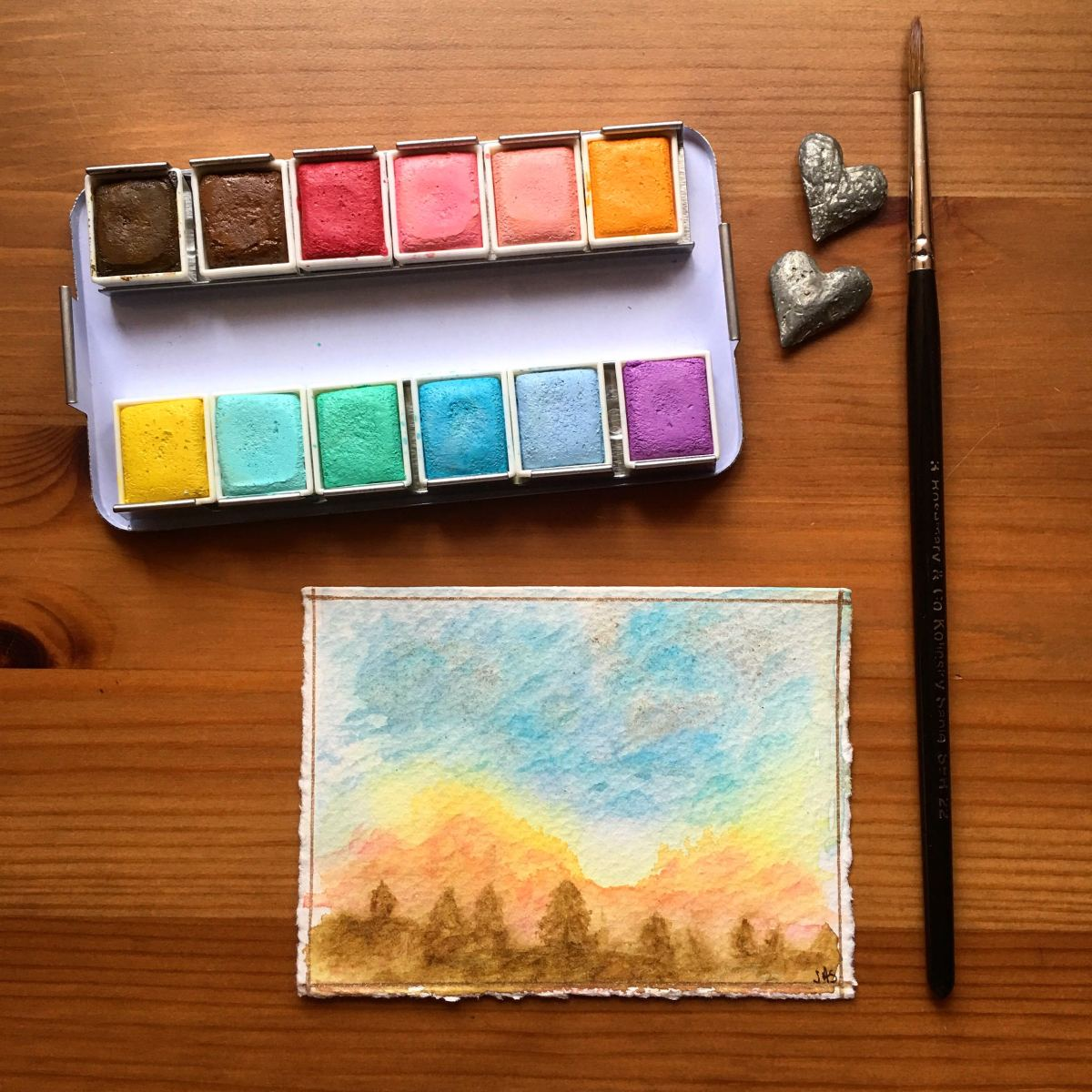 Prima Marketing watercolor confections pastel dreams and painting by jessica seacrest on fabriano artistico watercolor paper