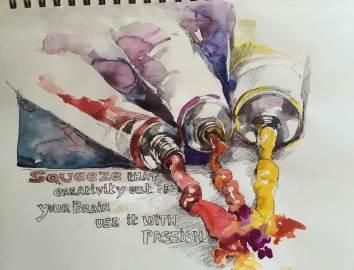 #WorldWatercolorGroup - Watercolor painting by Jayshree Rai - #doodlewash