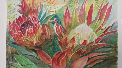 #WorldWatercolorGroup - Watercolor by Suklin Chang - #doodlewash