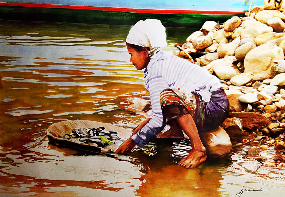 #WorldWatercolorGroup - Watercolor painting by Joie Pabilando - #doodlewash