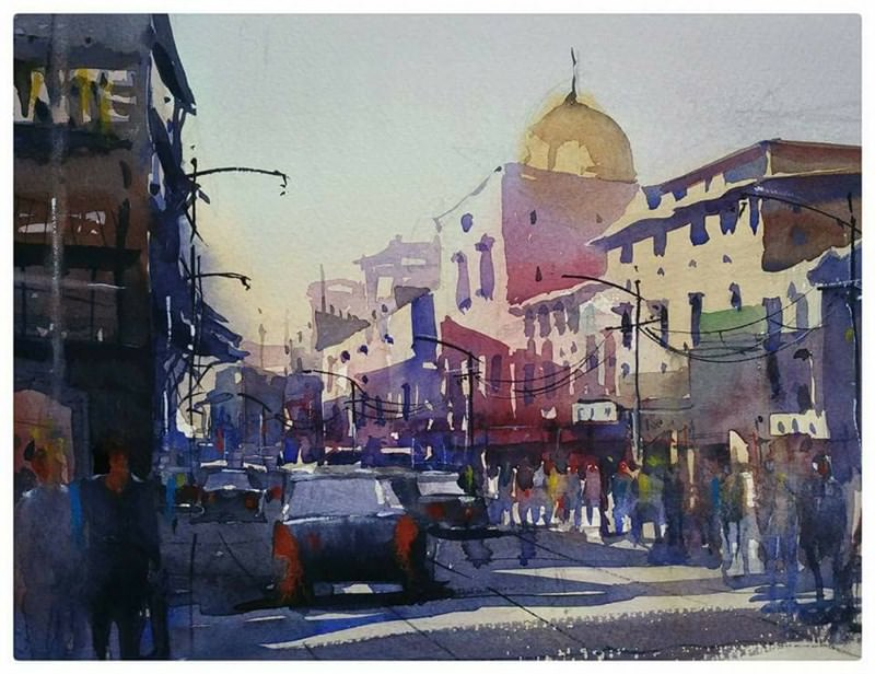 #WorldWatercolorGroup - Watercolor painting by Uhky-Uhky - #doodlewash