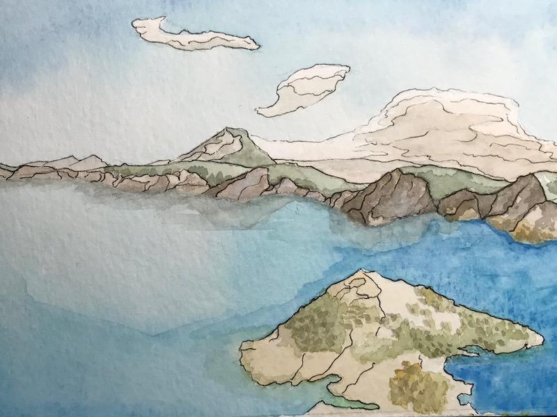 #WorldWatercolorGroup - Watercolor illustration by Jennifer Caddell - #doodlewash