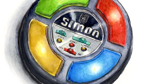 Day 6 - Simon Game Electronic Original Vintage Game from 70's 1978