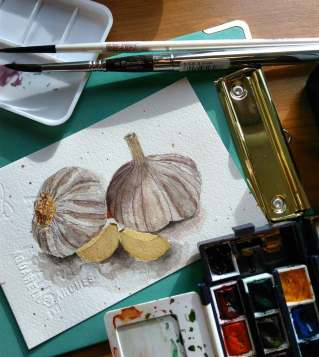 #WorldWatercolorGroup - Watercolor sketch by Jacqui M. Tan - #doodlewash