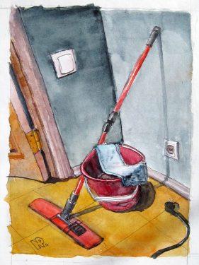 #WorldWatercolorGroup - Watercolor painting by Ilya Ratay - #doodlewash