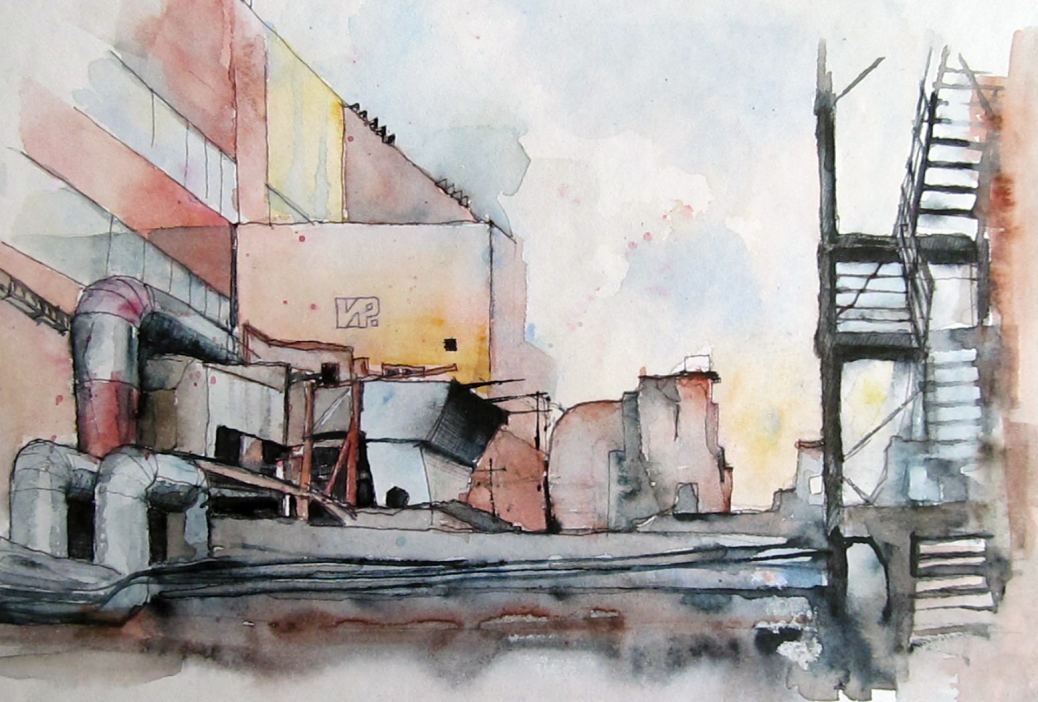 #WorldWatercolorGroup - Watercolor painting by Ilya Ratay - #doodlewash