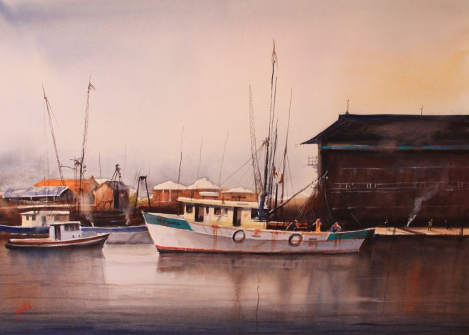 #WorldWatercolorGroup - Watercolor Painting by Jan Min - #doodlewash