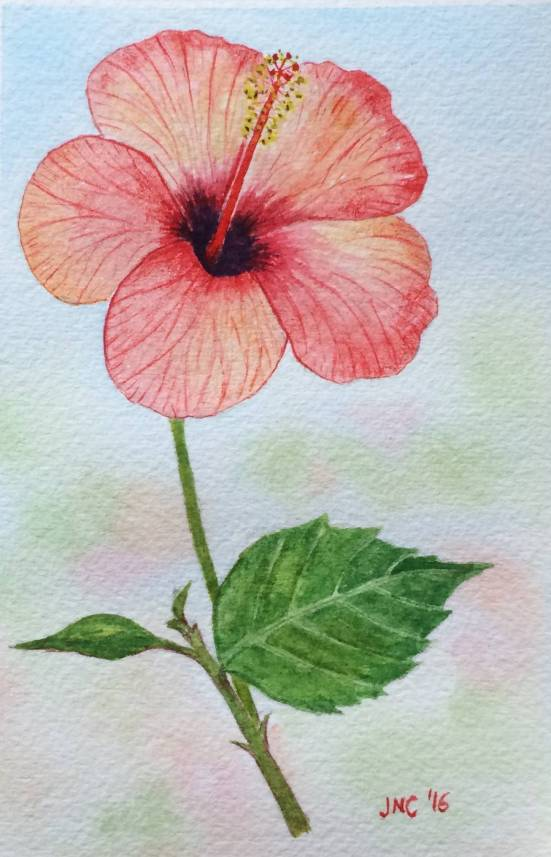 #WorldWatercolorGroup - Watercolor painting of flower by Tamz Canete - #doodlewash