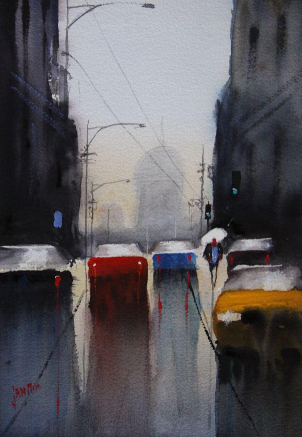 #WorldWatercolorGroup - Watercolor Painting by Jan Min - Doodlewash
