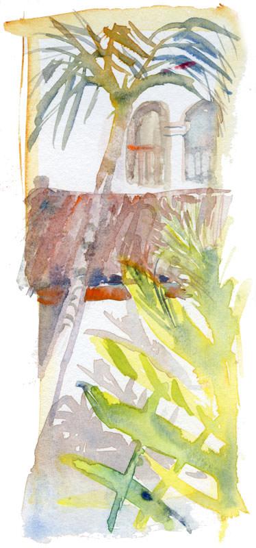 #WorldWatercolorGroup - Watercolor by Shiho Nakaza of Villa Del Sol Fullerton - #doodlewash
