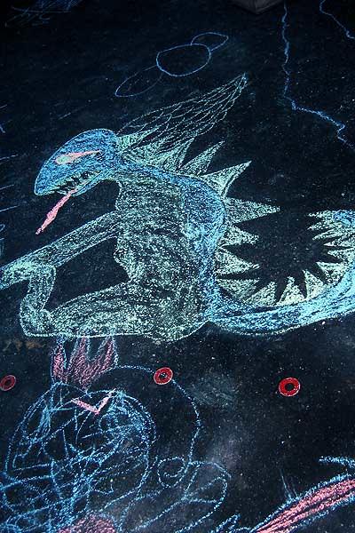 Sidewalk Dragon