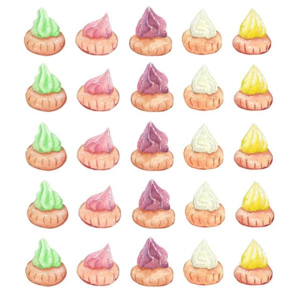 #WorldWatercolorGroup - Watercolor by Elizabeth Shana of gem biscuits - #doodlewash