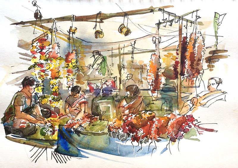 #WorldWatercolorGroup - Watercolor painting and urban sketching and Suhita Shirodkar - #doodlewash