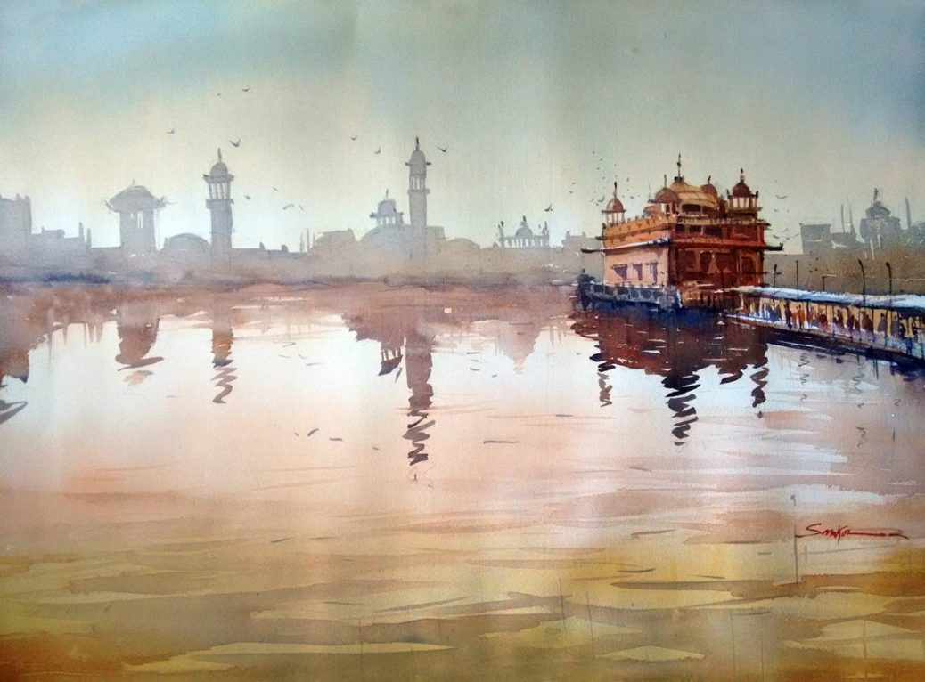 #WorldWatercolorGroup - Watercolor painting by Sankar Thakur - #doodlewash