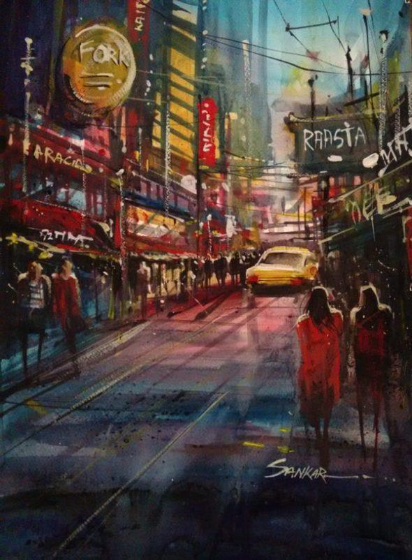 #WorldWatercolorGroup - Watercolor painting by Sankar Thakur - #doodlewash