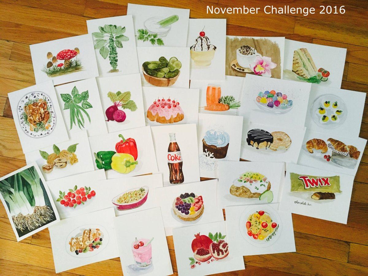 #WorldWatercolorGroup - Watercolor painting of November 2016 Doodlewash World Watercolor Group Art Challenge by Rocelee F. Benedicto-Sheldon - #doodlewash
