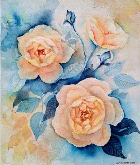 #WorldWatercolorGroup - watercolor flowers by Cheryl Sun-Ong - #doodlewash