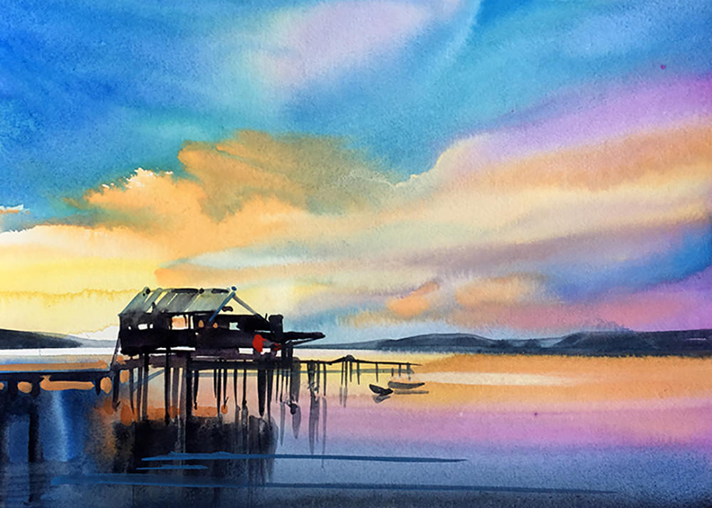 #WorldWatercolorGroup - Watercolor Painting by Joe Cibere - #doodlewash